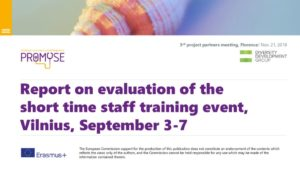thumbnail of PROMYSE_Vilnius training event evaluation DDG